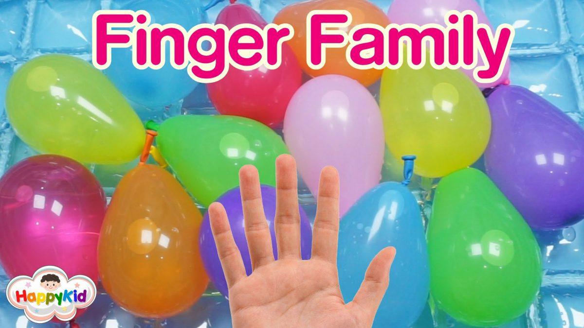 เพลง Finger Family #1 | เจาะลูกโป่งน้ำ | เรียนรู้สีภาษาอังกฤษ | Learn Color With Wet Balloon