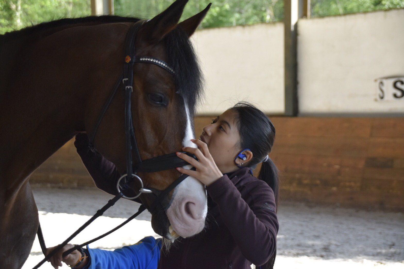 เจ้าฟ้าสิริวัณณวรีฯ ทรงเตรียมความพร้อมเข้าร่วมการแข่งขันศิลปการบังคับม้าระดับนานาชาติ