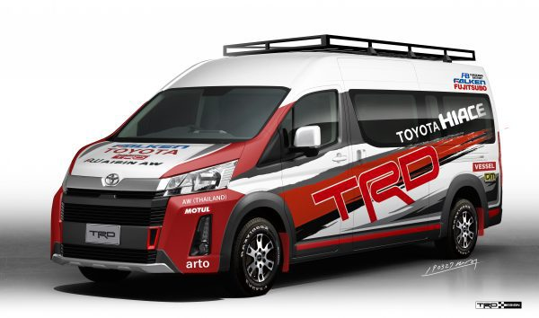 Commuter Rally  Support Vechicle Concept by TRD