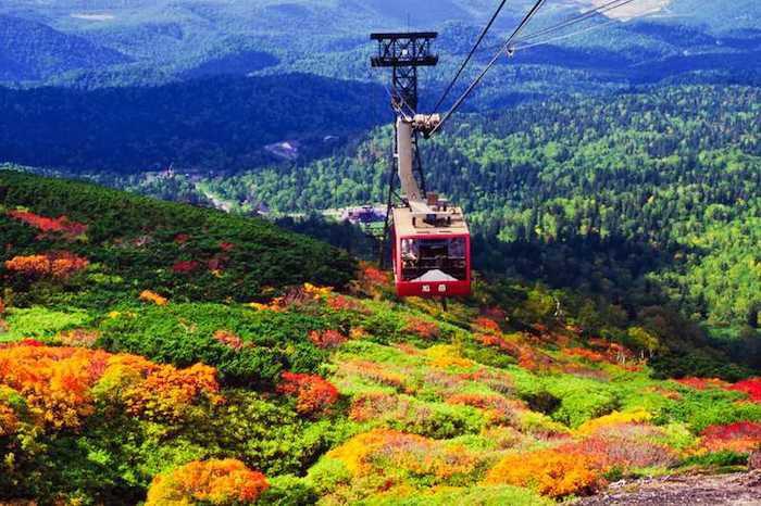 อุทยานแห่งชาติไดเซสึซัง , ฮอกไกโด สถานที่ ชมใบไม้เปลี่ยนสีที่ญี่ปุ่น