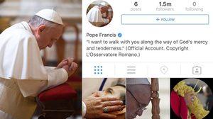 Pope Francis เริ่มใช้ IG ยอดผู้ติดตามทะลุ 1.5 ล้านคน