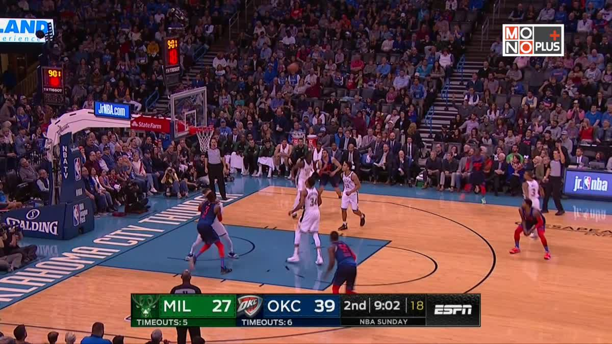 [Highlight] Milwaukee Bucks VS Oklahoma City Thunder