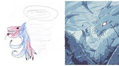 เปลี่ยนสัตว์ประหลาดในจินตการของเด็กๆ ให้เหมือนจริง จากผลงานของ Katie Johnson