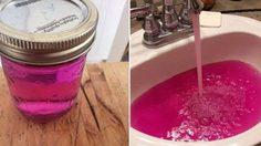 น้ำประปากลายเป็นสีชมพูเรืองแสง