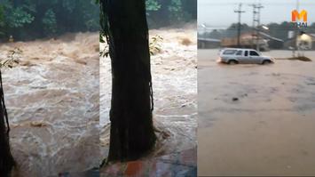 น้ำป่าไหลหลาก ท่วมเขตตัวเมืองจันทบุรีแล้ว