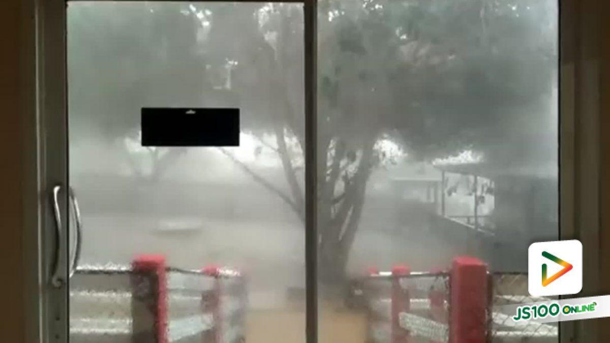 อากาศแปรปรวน เกิดพายุฝนถล่มพื้นที่เขาใหญ่-วังน้ำเขียว  ต้นไม้ เสาไฟส่องทาง ได้รับความเสียหาย (05-02-62)
