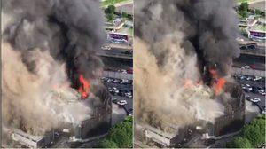คุมเพลิงได้แล้ว เหตุไฟไหม้ร้านแอพ อารีน่า ย่านพระราม 9