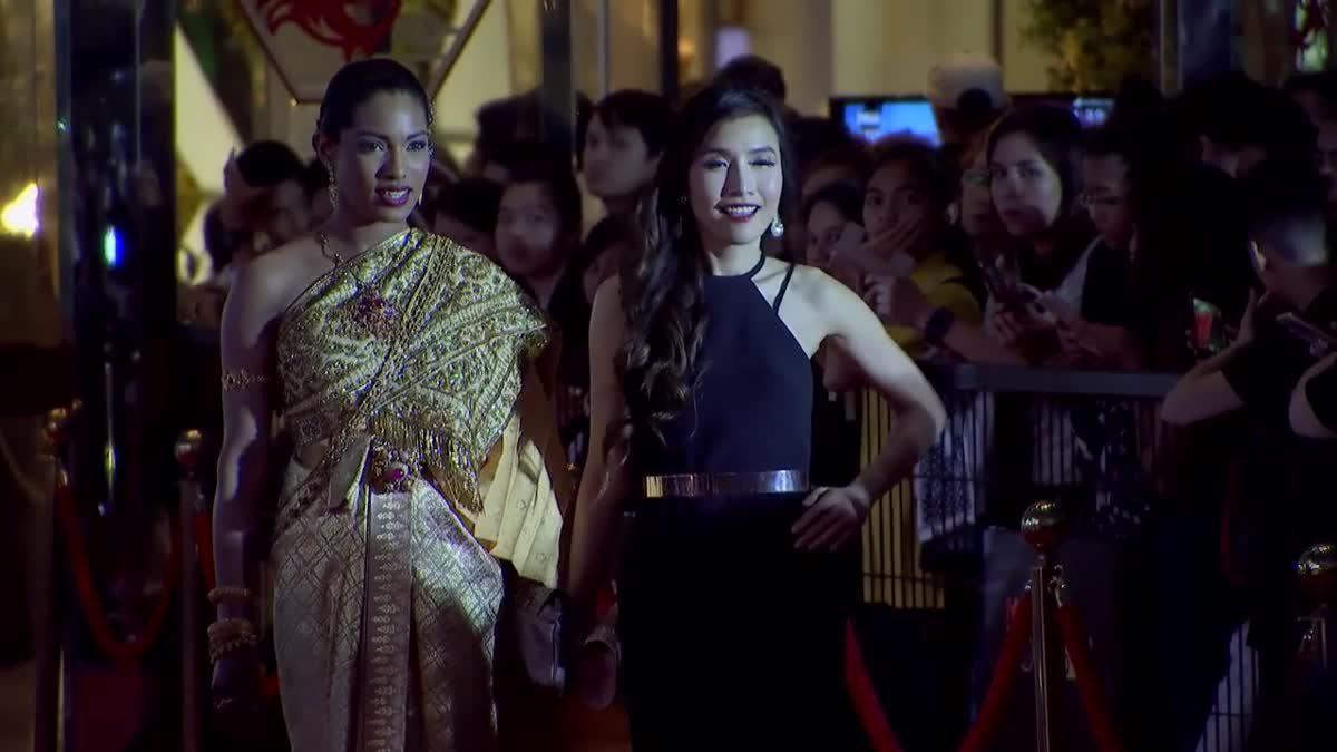 คุณ Kitty เดินพรมแดง ในงานประกาศผลรางวัล MThai Top Talk-About 2017