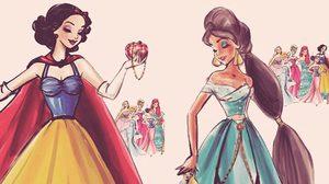 เจ้าหญิงดิสนีย์ สวมชุดราตรีสวยงาม