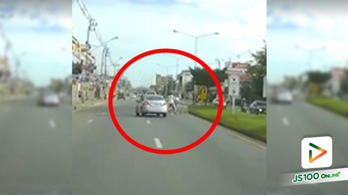 ถ้าคนขับเก๋งขี้ตกใจ คุณคงไม่ได้ปั่นจักรยานต่อแล้วแหละ.. (25/08/2020)
