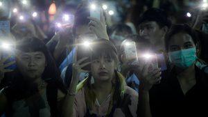 ภาพบรรยากาศ แฟลชม็อบ ม.ศิลปากร เรียกร้องความชอบธรรมกระบวนการยุติธรรมไทย