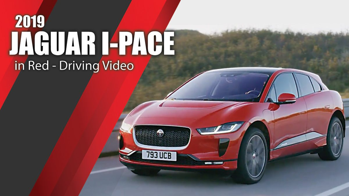 2019 JAGUAR I-PACE in Red - Driving Video