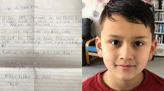 ซึ้งใจ! เด็ก 9 ขวบเขียนจดหมายถึงนายกฯเนเธอร์แลนด์ ให้ช่วยทีมหมูป่า