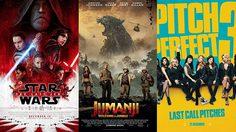 The Last Jedi ทะลุ 700 ล้านเหรียญ!! Jumanji ภาคใหม่ และแก๊งสาวใสใน Pitch Perfect 3 เปิดตัวแรง