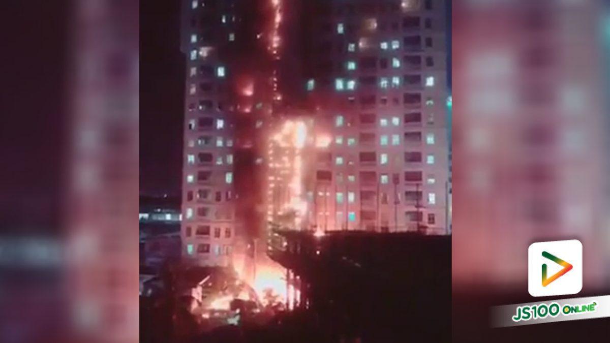 ไฟไหม้อาคารสูง ปอยเปต กัมพูชา เร่งตรวจสอบผู้บาดเจ็บ และความเสียหาย