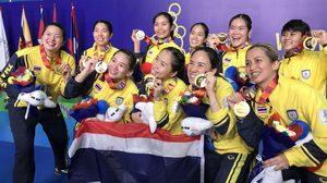 ทีมขนไก่สาวไทย สอยเหรียญทอง ซีเกมส์ 4 สมัยติด หลังกด อินโดนีเซีย 3-1 คู่