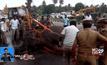 รถบัสชนช้างในอินเดีย