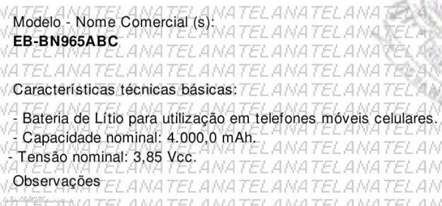 เอกสารยืนยัน Samsung Galaxy Note 9 ยืนยันแบตเยอะจริง พบข้อมูลแบตในบราซิล