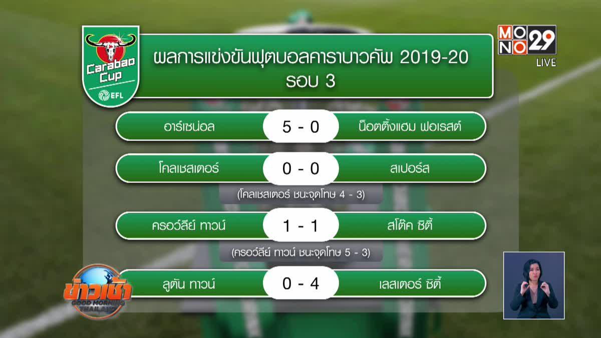 ผลการแข่งขันฟุตบอลคาราบาวคัพ รอบ 3