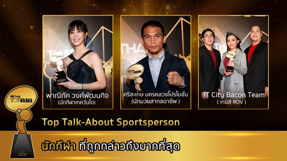 ประกาศรางวัลที่ 8 Top talk about Sportsperson