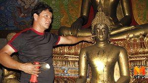 ไฟไหม้โบสถ์วัดเมืองกรุงเก่า พบพระพุทธรูปน้ำตาไหล