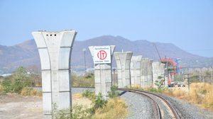 เผยภาพความคืบหน้า รถไฟทางคู่ ช่วงมาบกะเบา – ชุมทางถนนจิระ