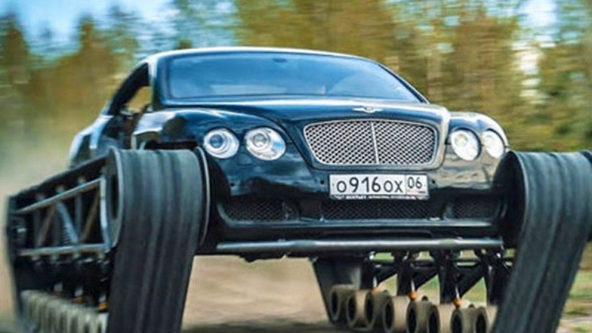 รวมร่างสุดขั้ว! รถหรู Bentley และล้อตีนตะขาบ กลายเป็น รถถังที่เร็วที่สุดในโลก