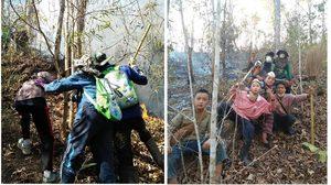 ชื่นชมกลุ่มเด็กที่ สะเมิง ลุยช่วย จนท.ดับไฟป่า ลดปัญหาฝุ่นควัน