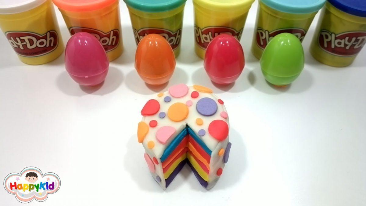 แป้งโดว์เค้กสายรุ้ง | Rainbow Cake Play Doh | เรียนรู้คำศัพท์ด้วยแป้งโดว์ | Learn With Play-Doh