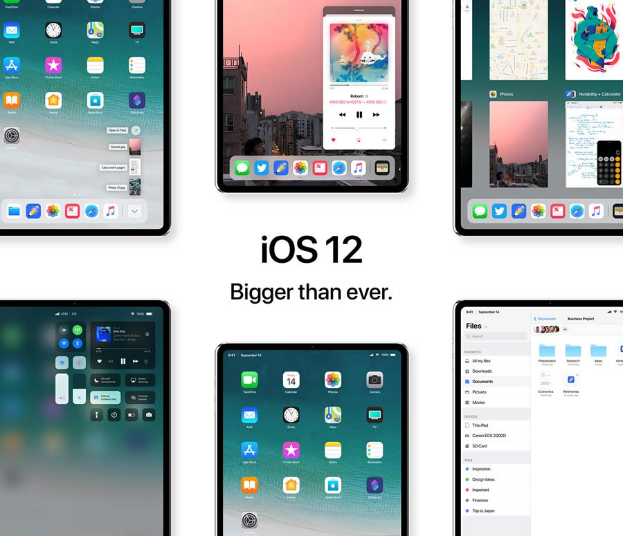 iPad Pro 2018 รันด้วย iOS 12
