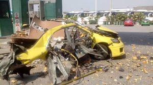 รถแท็กซี่ระเบิด ขณะกำลังเติมแก๊ส บาดเจ็บ 3 ราย