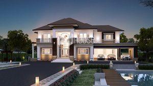 บ้านแนวโมเดิร์น ทรอปิคอลพื้นที่ใช้สอย 457 ตารางเมตร