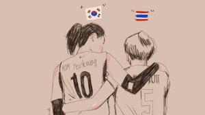 ภาพเดียวแทนความหมาย!! คิม ยอนคยอง กับ หน่อง ปลื้มจิตร์