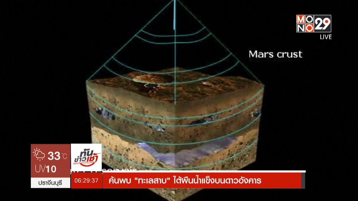 """ค้นพบ """"ทะเลสาบ"""" ใต้ผืนน้ำแข็งบนดาวอังคาร"""