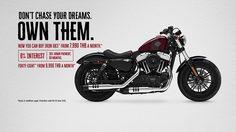 Harley-Davidson มอบข้อเสนอพิเศษให้คุณเป็นเจ้าของรถตระกูล Sportster™ ง่ายขึ้น