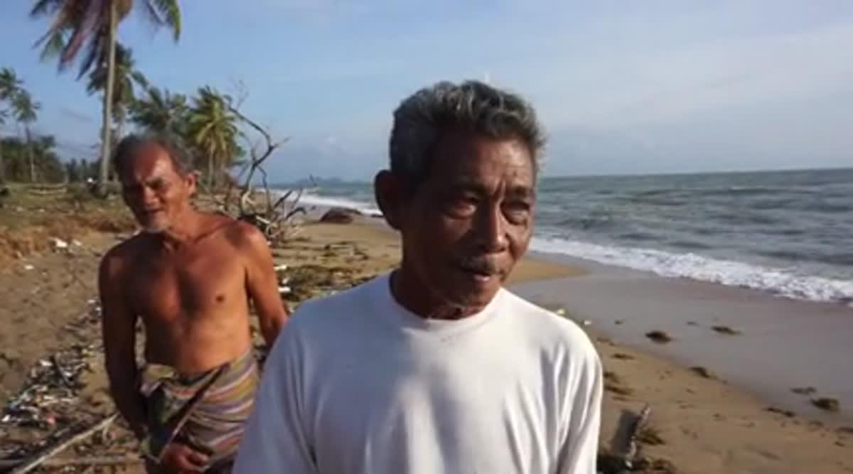 พบศพหัวขาด ถูกคลื่นซัดเกยหาดบางมะพร้าว คาดเหยื่อพายุปาบึก