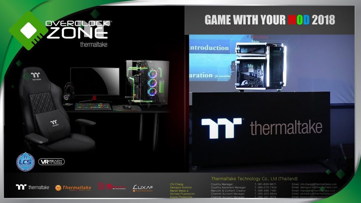 Thermaltake Game With Your Mod 2018