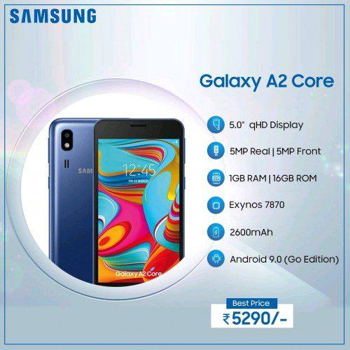 เปิดตัว Samsung Galaxy A2 Core รัน Android Go ราคา 2,400 บาท