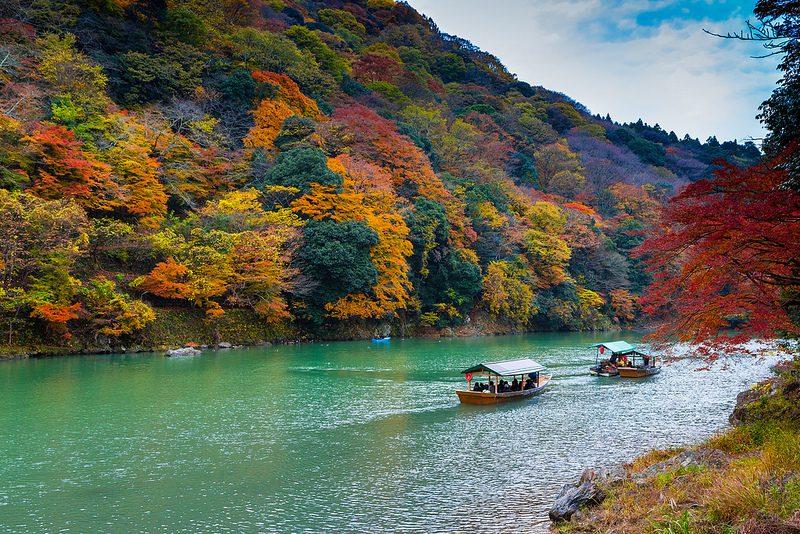 อาราชิยาม่า, เกียวโต สถานที่ ชมใบไม้เปลี่ยนสีที่ญี่ปุ่น
