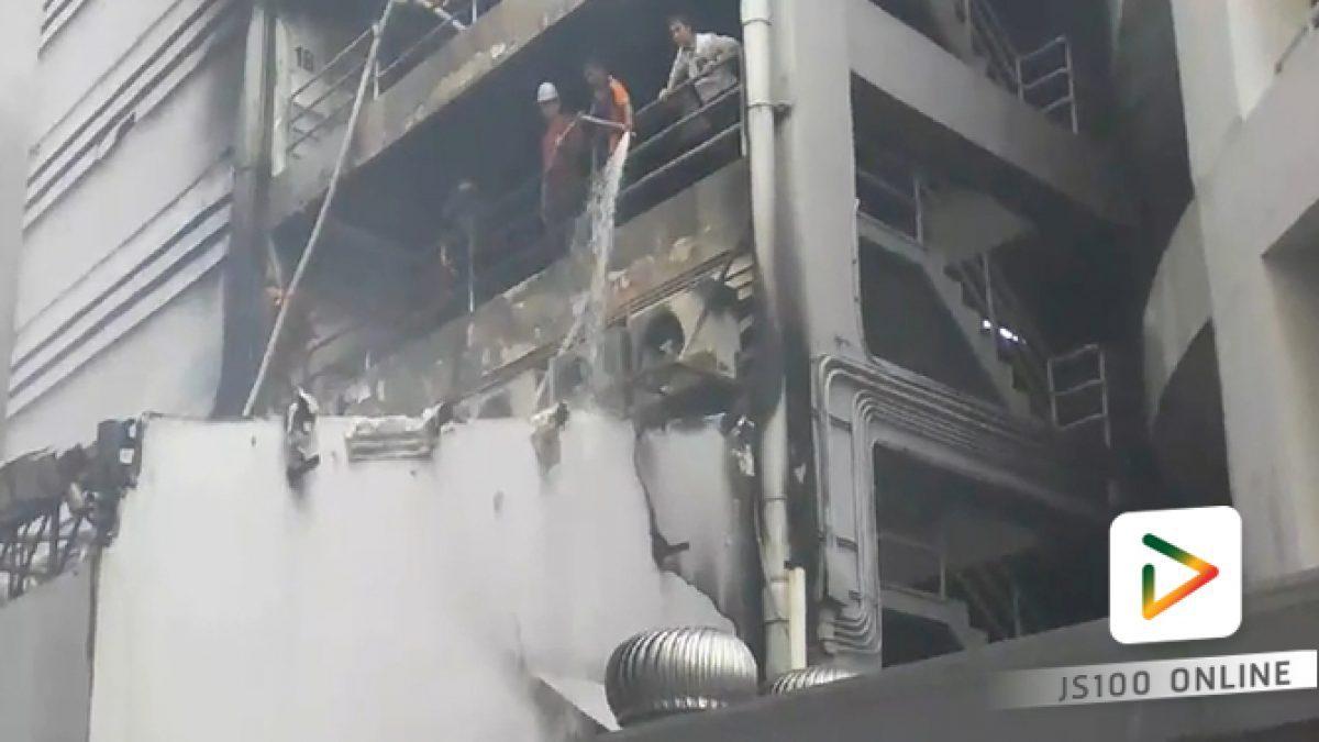 เพลิงไหม้ห้องเก็บของ ด้านหลังอาคารจอดรถ ห้างฯเดอะมอลล์ บางแค จนท.ควบคุมได้แล้ว  (15-02-61)