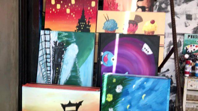 ร้าน Paintbar bangkok บาร์เก๋สำหรับคนรักงานศิลป์