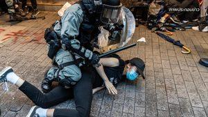 คดีฝ่าฝืนแบนหน้ากากฮ่องกง ขึ้นศาลกรณีแรก