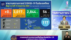 สรุปแถลงศบค. โควิด 19 ในไทย วันนี้ 13/05/2563 | 11.30 น.