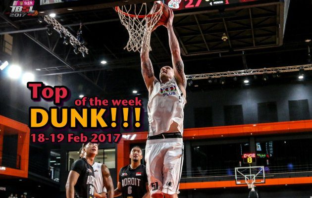 แป้นเกือบหัก ห่วงแทบหลุด Top Dunk of the week 18-19/02/60
