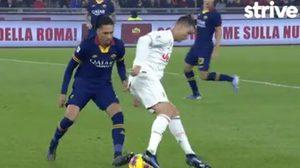 รับชม โรนัลโด้ พลิกบอลหลบ สมอลลิ่ง สุดสวยในเกม ยูเวนตุส เยือน โรม่า (คลิป)