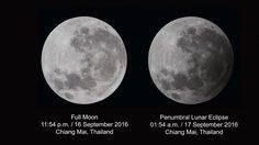 สถาบันวิจัยดาราศาสตร์ฯ เผยภาพจันทรุปราคาเงามัว คืน 16 กันยายน 2559