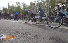 ขบวนพาเหรดจักรยานในรัสเซีย