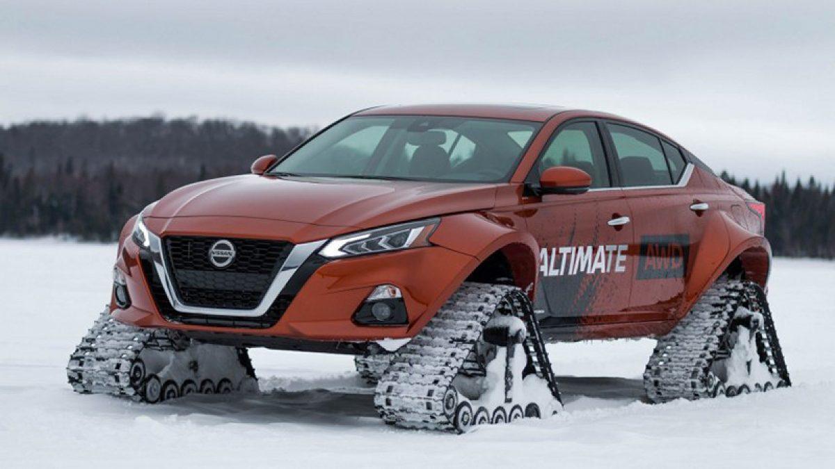 รถต้นแบบ ตีนตะขาบรุ่นพิเศษ พร้อมลุยทางโหด Nissan Altima-te AWD ใหม่