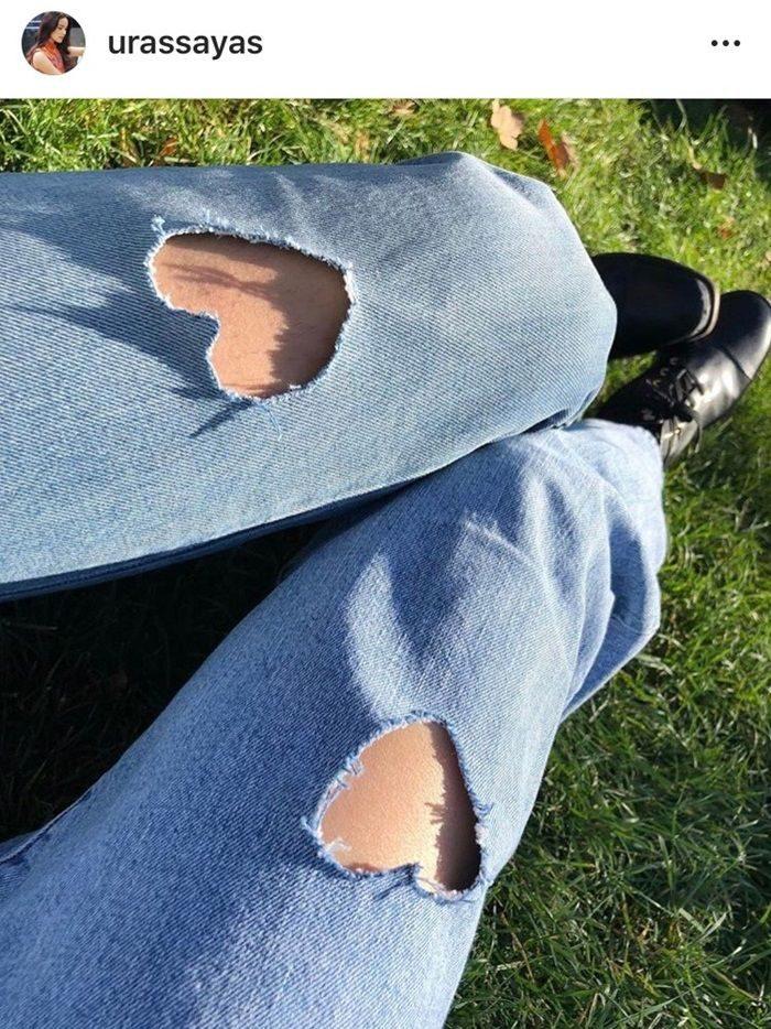 ญาญ่า โพสต์ภาพกางเกงขาดรูปหัวใจ