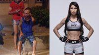 ที่นี่บราซิล!! โจรหนุ่มหวังจะปล้นหญิงสาว แต่หารู้ไม่ว่าเธอเป็นนักสู้ UFC เลยโดนอัดซะน่วม